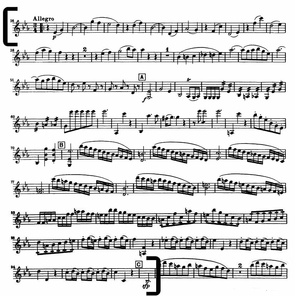Mozart 39 National Youth Orchestra Violin audition excerpt
