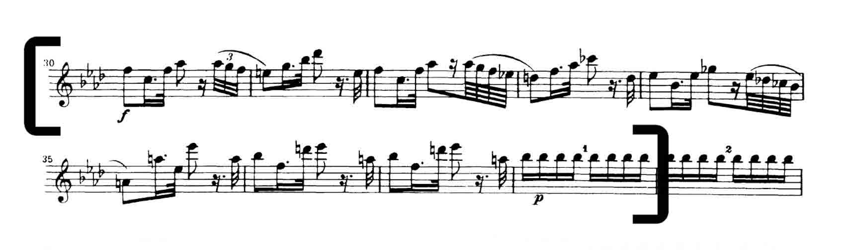 Mozart 39 mvt 2 National Youth Orchestra Violin audition excerpts