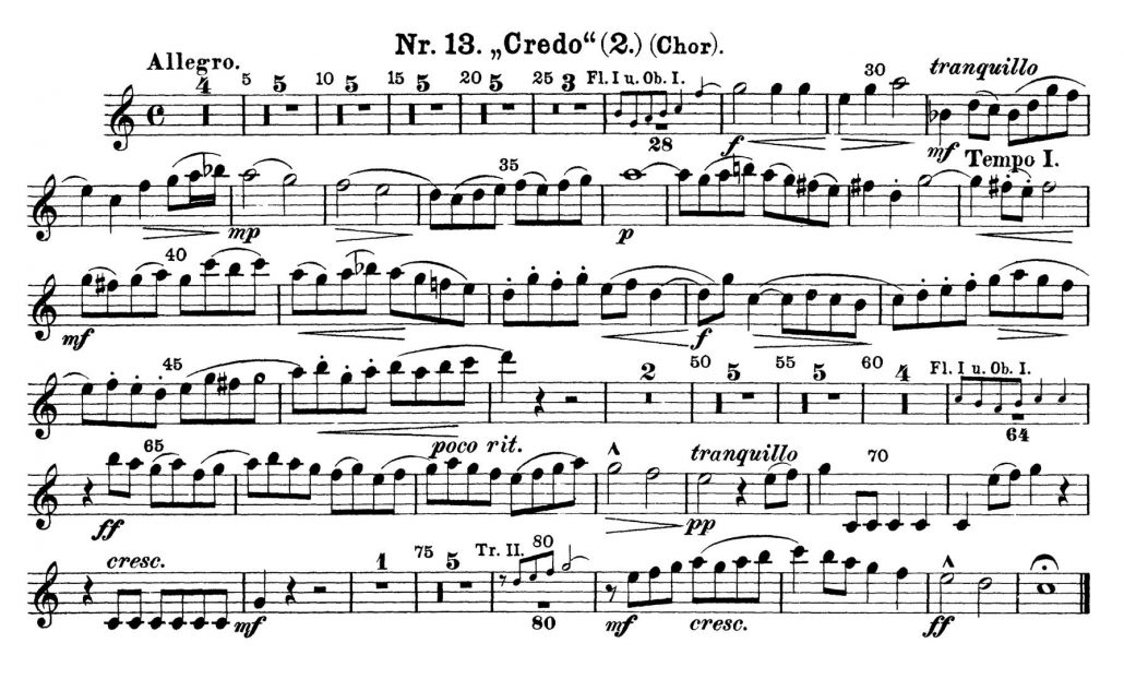 Bach_Mass_B_Minor orchestra audition excerpts Trumpet 1a