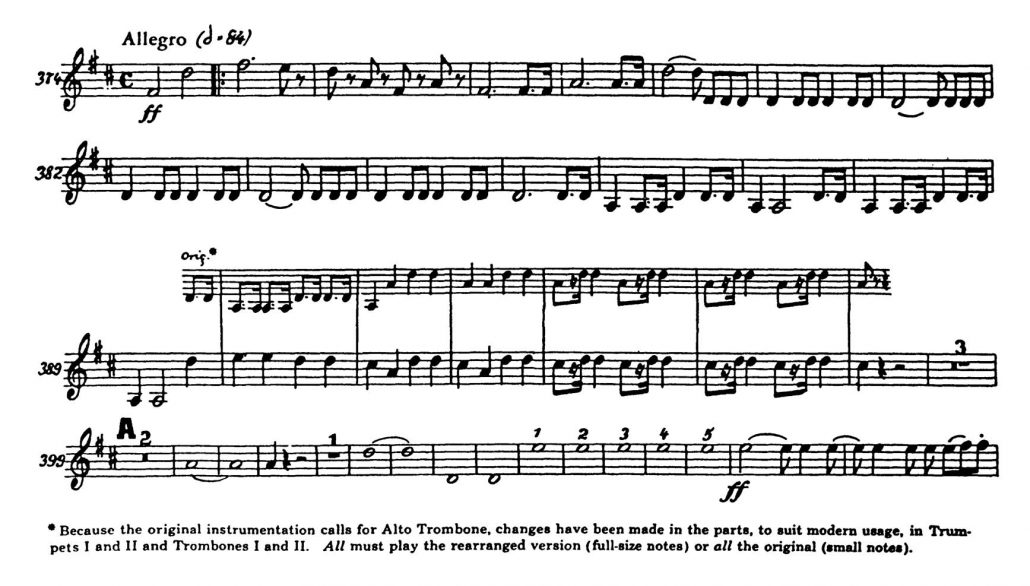 Beethoven_Symphony 5 orchestra audition excerpt Trumpet 2c