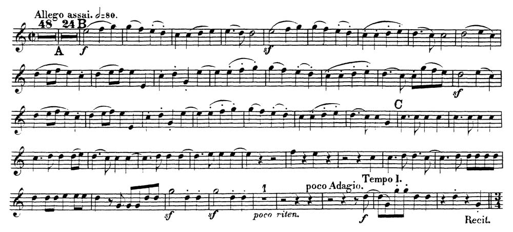 Beethoven_Symphony 9 orchestra audition excerpts_Trumpet
