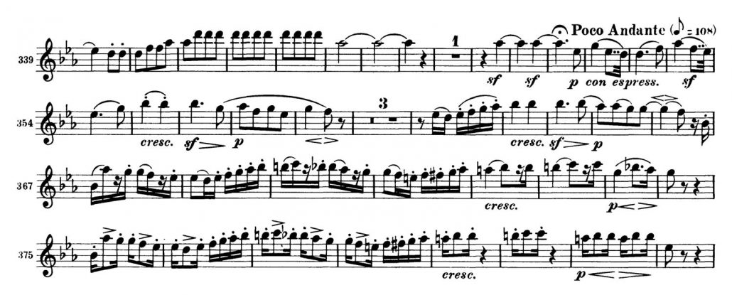 Beethoven_Symphony_No_3_Oboe orchestra audition excerpt