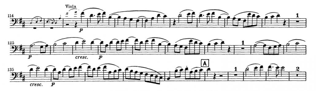 Beethoven_Symphony_No_9_Bassoon orchestra audition excerpt 1
