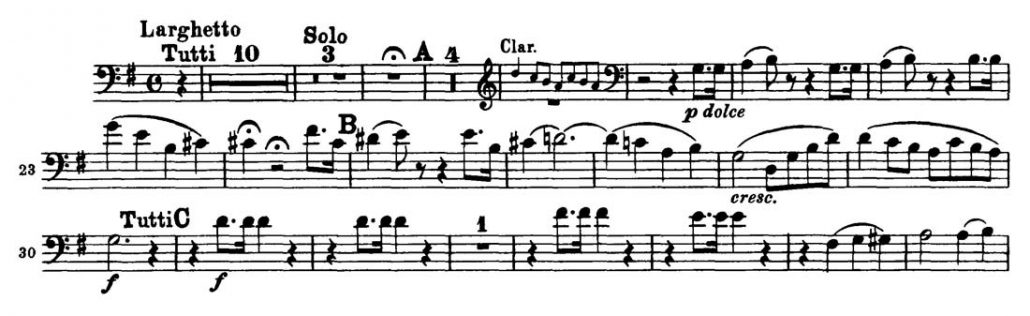 Beethoven_Violin_Concerto_Bassoon orchestral audition excerpt 1
