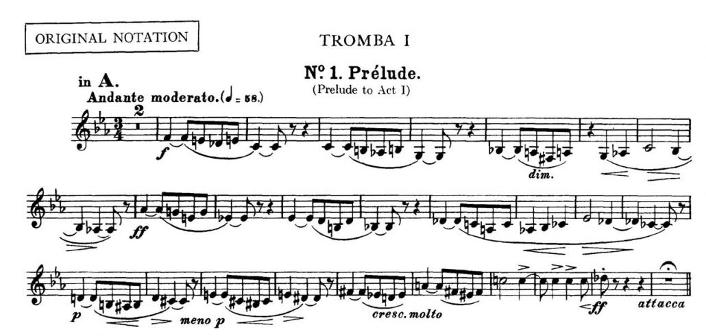 Bizet_Carmen_Prelude orchestra audition excerpt Trumpet 1a