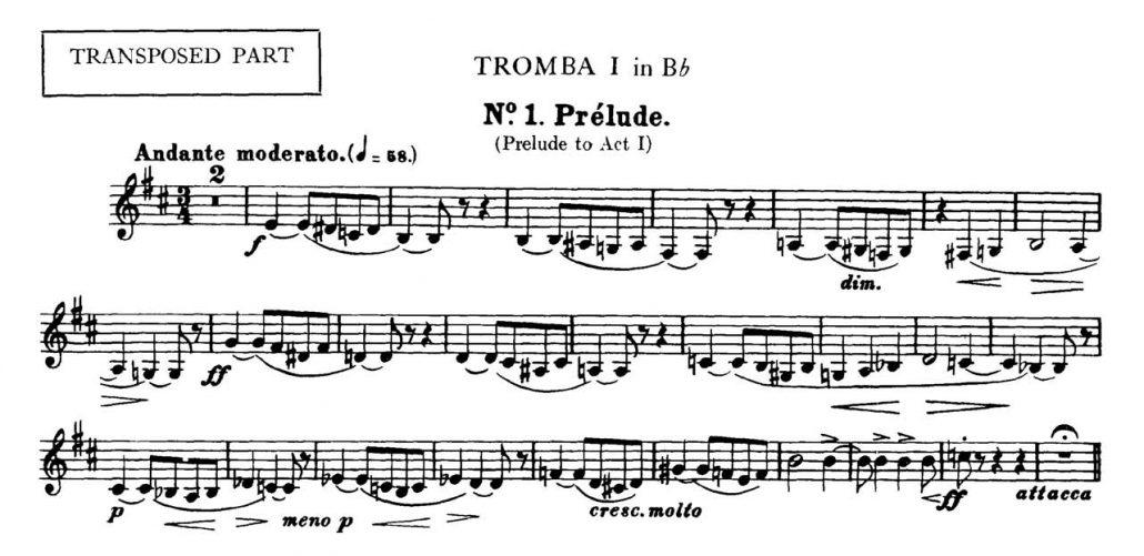 Bizet_Carmen_Prelude orchestra audition excerpt Trumpet 1b