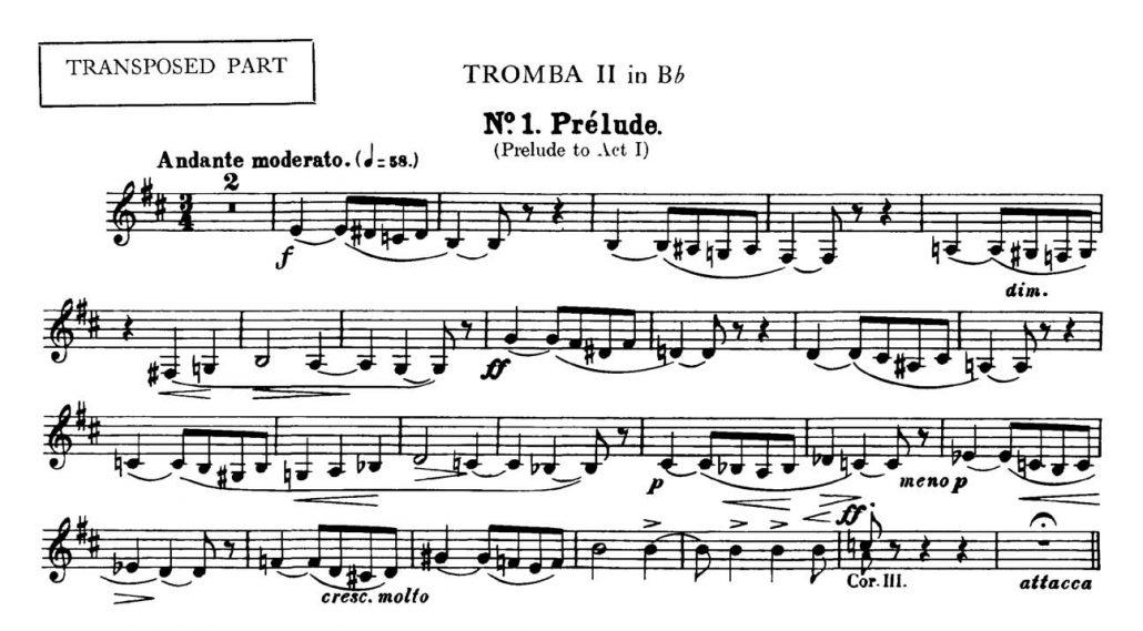 Bizet_Carmen_Prelude orchestra audition excerpt Trumpet 1d