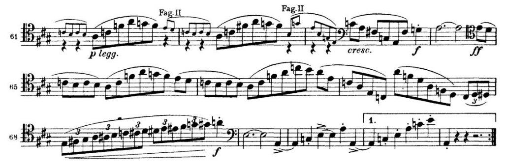 Brahms Symphony 3 Bassoon orchestral audition excerpt 1a