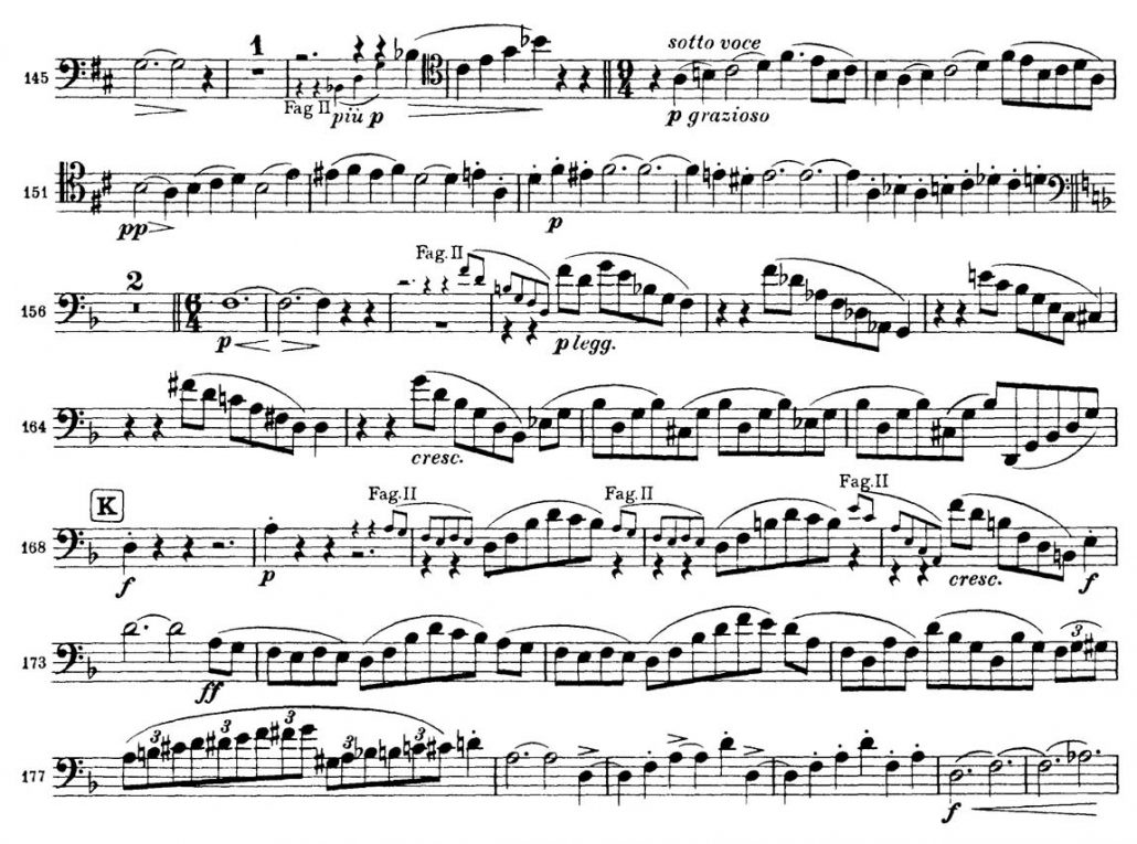Brahms Symphony 3 Bassoon orchestral audition excerpt 3a