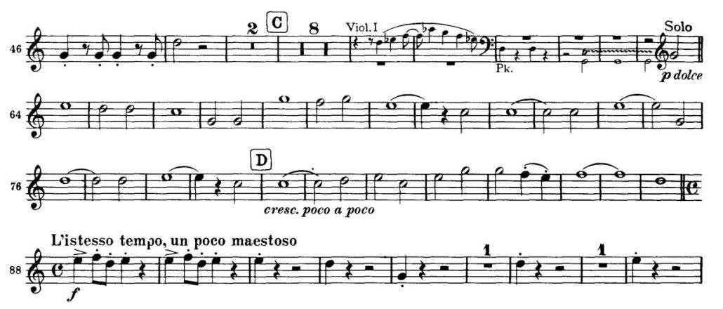 Brahms_Academic Festival orchesta audition excerpts Trumpet 1