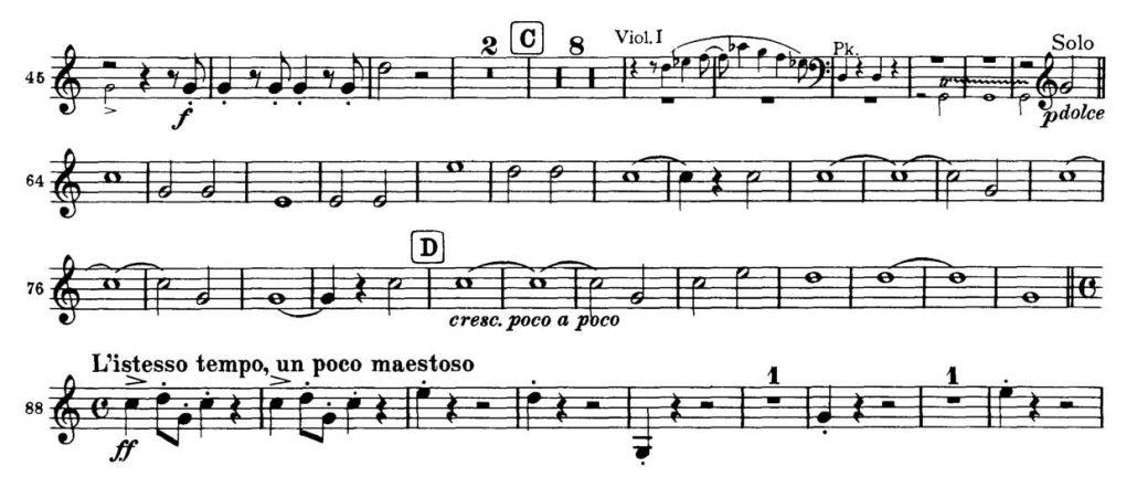Brahms_Academic Festival orchesta audition excerpts Trumpet 2