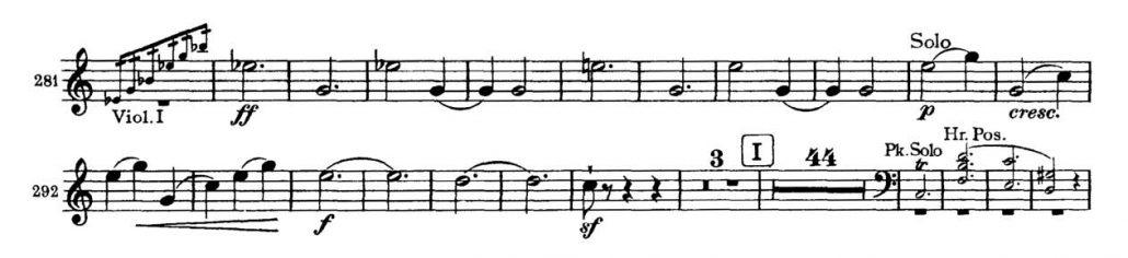 Brahms_Symphony 2 orchestra audition excerpt Trumpet 1