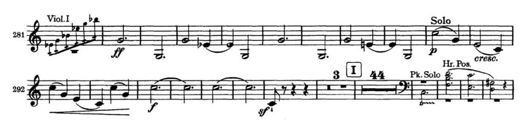 Brahms_Symphony 2 orchestra audition excerpt Trumpet 1b