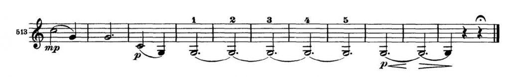 Brahms_Symphony 2 orchestra audition excerpt Trumpet 2b