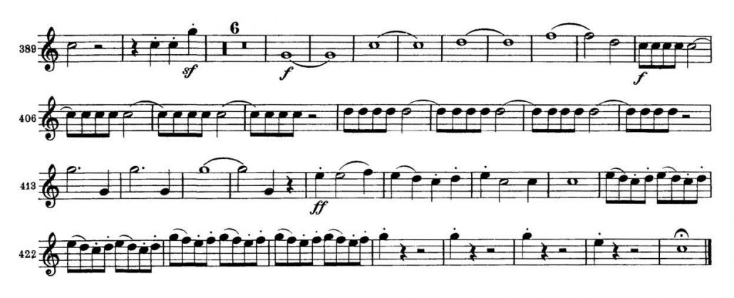 Brahms_Symphony 2 orchestra audition excerpt Trumpet 3a