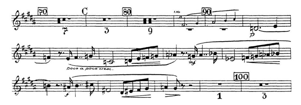 Bruckner_Symphony 7 orchestra audition excerpt Trumpet 1a