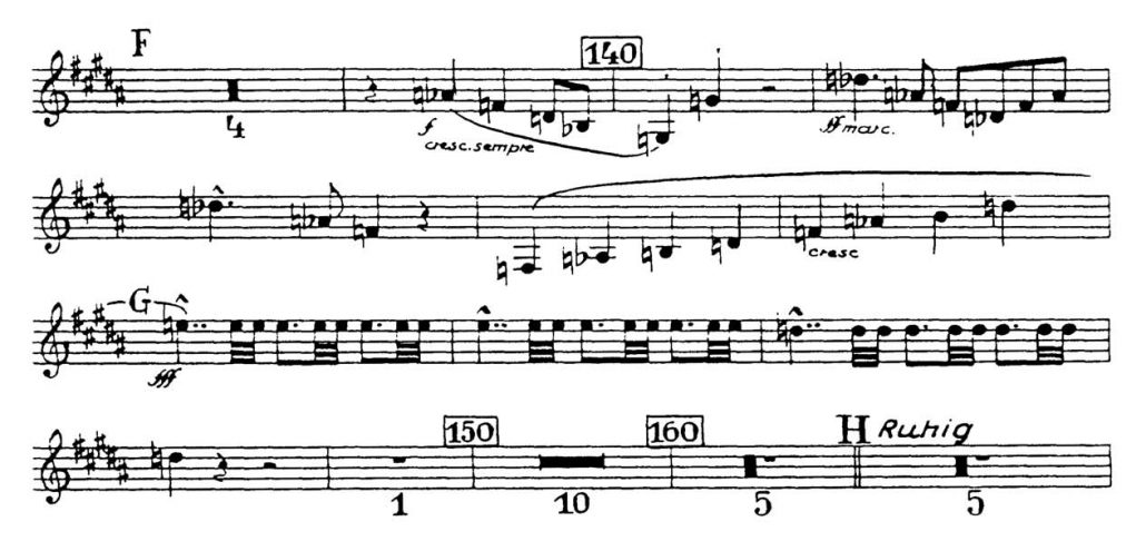 Bruckner_Symphony 7 orchestra audition excerpt Trumpet 2a