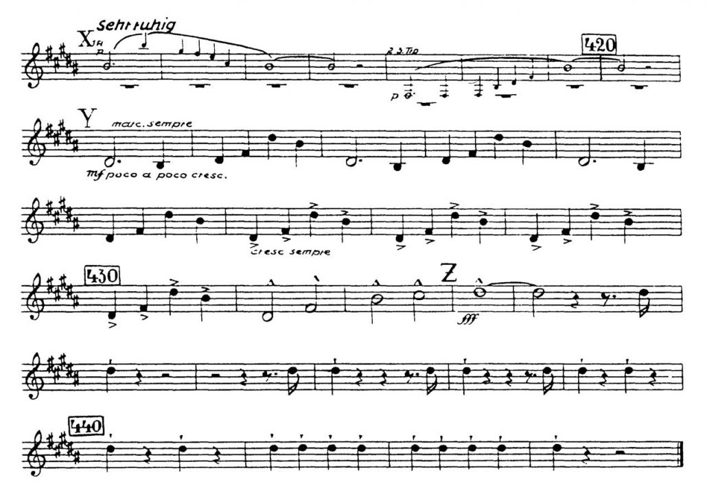 Bruckner_Symphony 7 orchestra audition excerpt Trumpet 4a