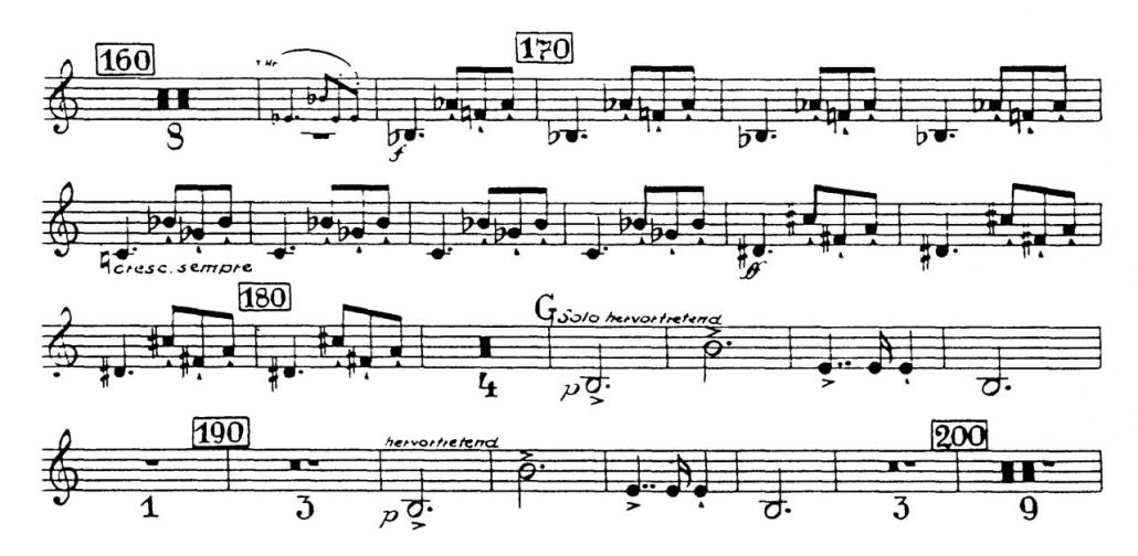 Bruckner_Symphony 7 orchestra audition excerpt Trumpet 6a