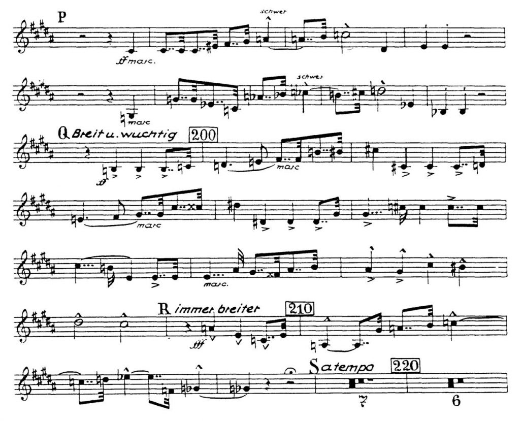 Bruckner_Symphony 7 orchestra audition excerpt Trumpet 7a