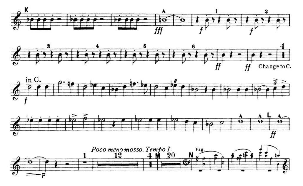Dvorak_Symphony 8 orchestra audition excerpts Trumpet 1a