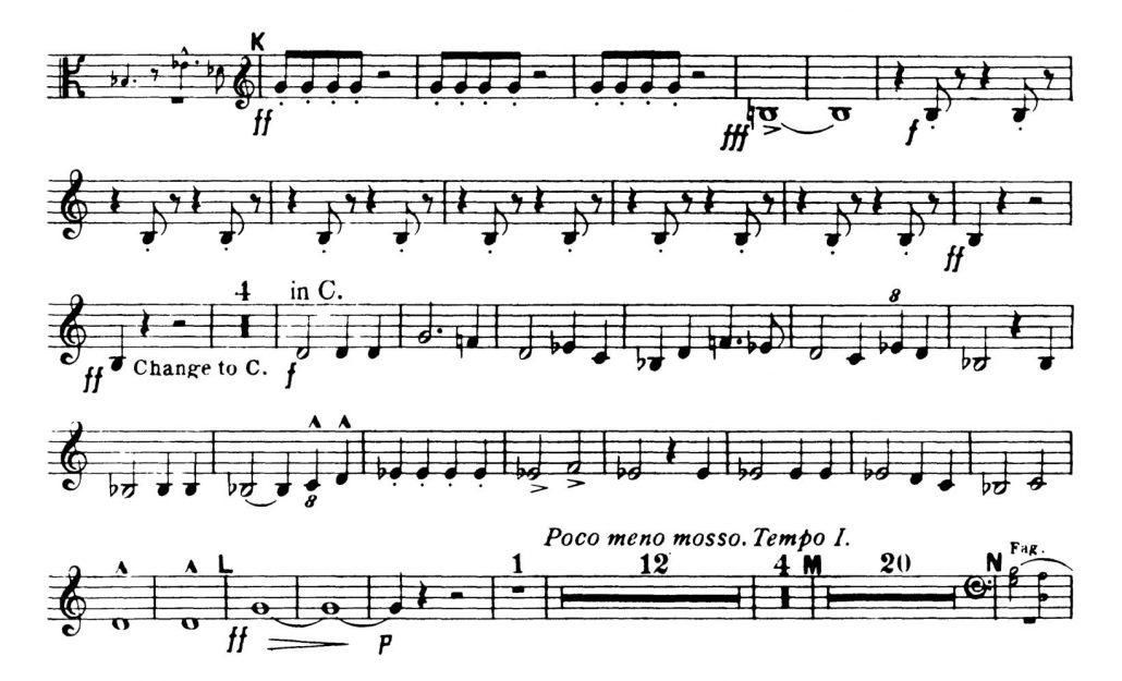 Dvorak_Symphony 8 orchestra audition excerpts Trumpet 1c