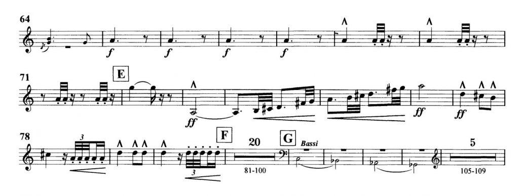 Dvorak_Symphony 8 orchestra audition excerpts Trumpet 2b