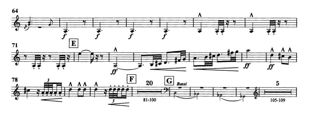 Dvorak_Symphony 8 orchestra audition excerpts Trumpet 2d