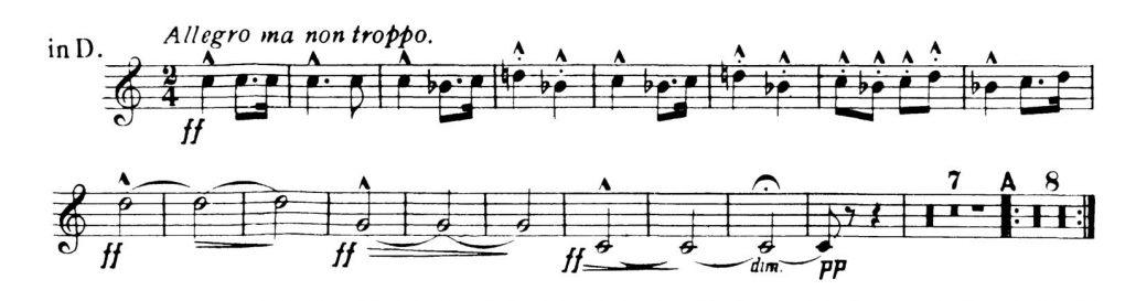 Dvorak_Symphony 8 orchestra audition excerpts Trumpet 3a