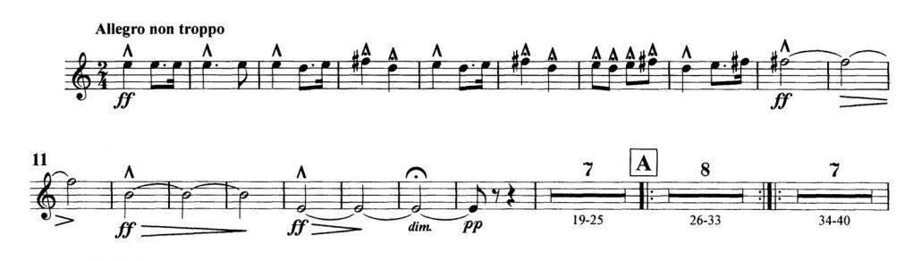 Dvorak_Symphony 8 orchestra audition excerpts Trumpet 3b