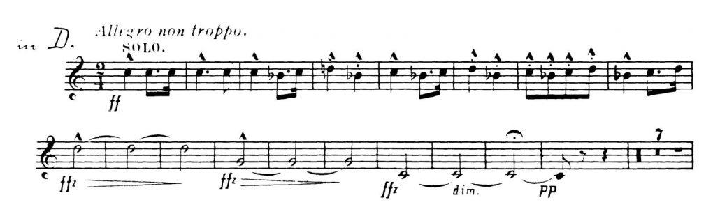 Dvorak_Symphony 8 orchestra audition excerpts Trumpet 3c