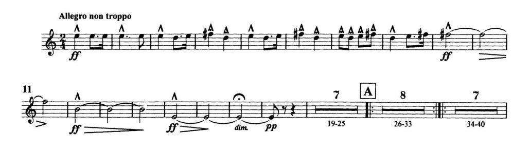 Dvorak_Symphony 8 orchestra audition excerpts Trumpet 3d
