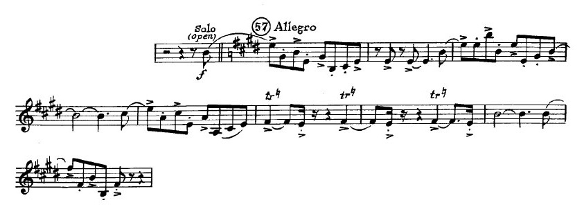 Gershwin_An_American in Paris orchestra audition excerpt Trumpet 2a