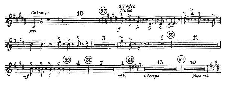 Gershwin_An_American in Paris orchestra audition excerpt Trumpet 2b