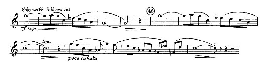 Gershwin_An_American in Paris orchestra audition excerpt Trumpet