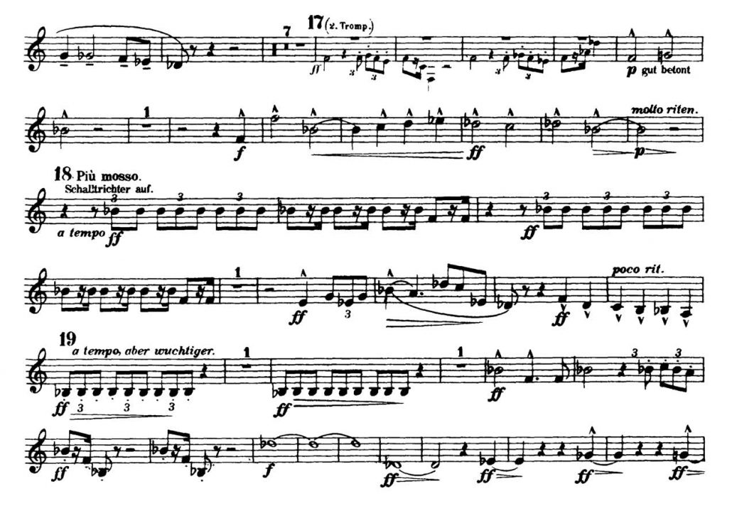 Mahler_Symphony 2 orchestra audition excerpts Trumpet 1