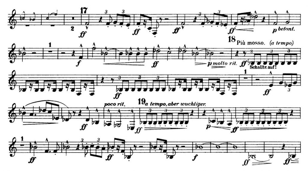 Mahler_Symphony 2 orchestra audition excerpts Trumpet 1b