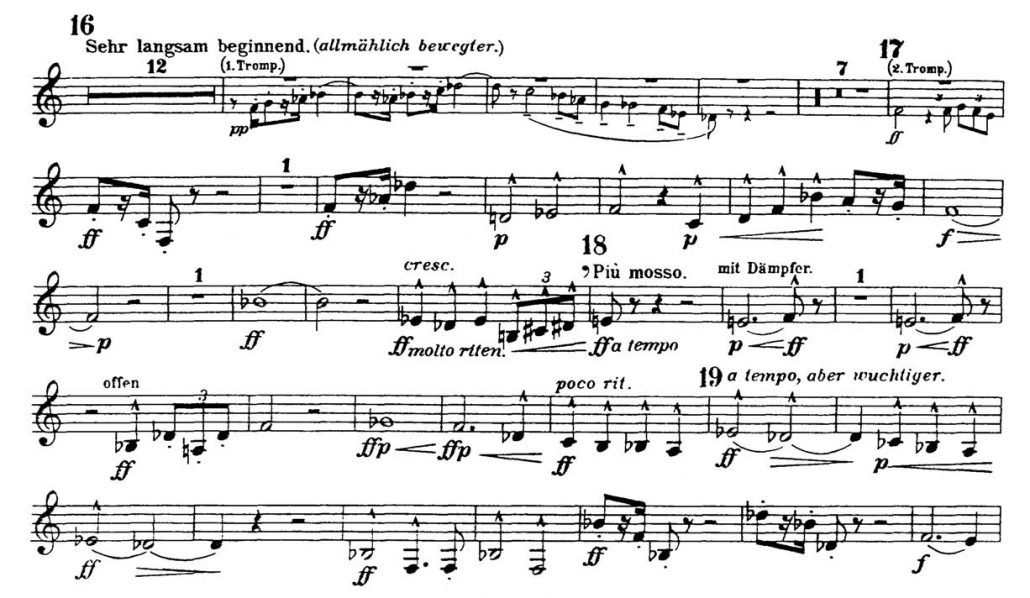 Mahler_Symphony 2 orchestra audition excerpts Trumpet 1c
