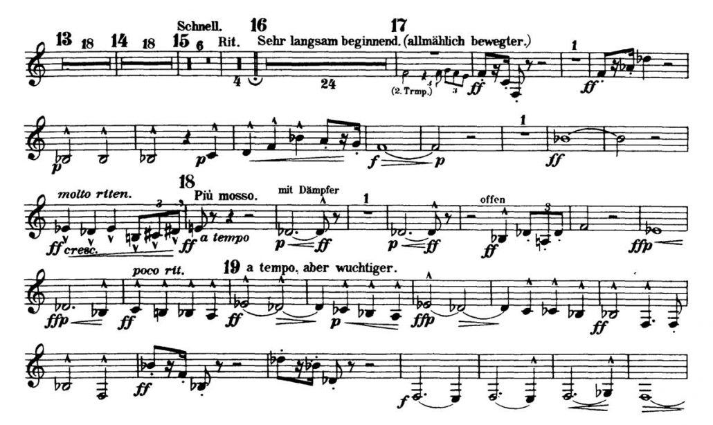 Mahler_Symphony 2 orchestra audition excerpts Trumpet 1d