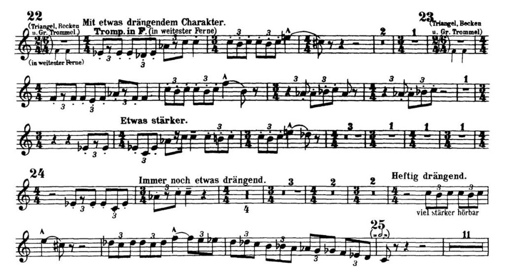 Mahler_Symphony 2 orchestra audition excerpts Trumpet 2a