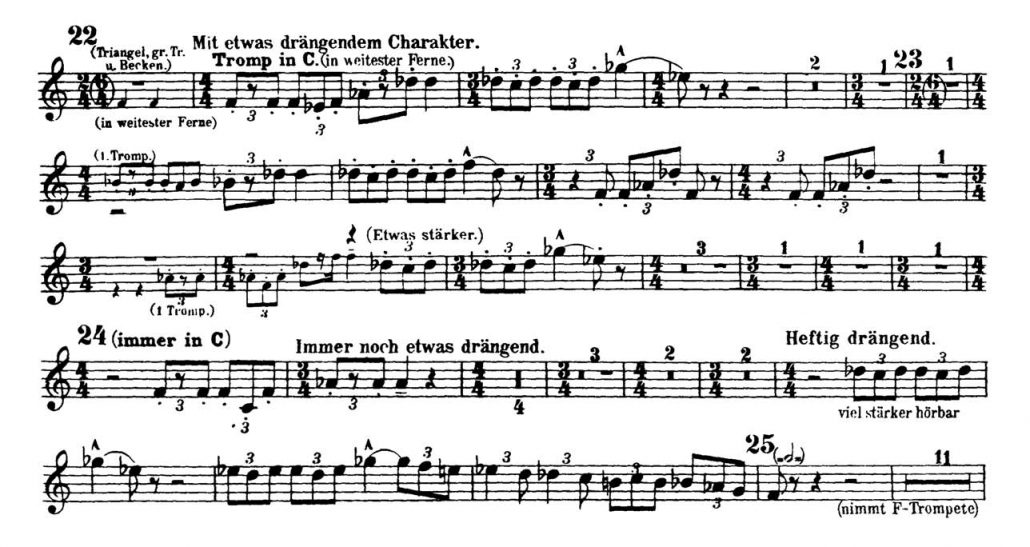 Mahler_Symphony 2 orchestra audition excerpts Trumpet 2b