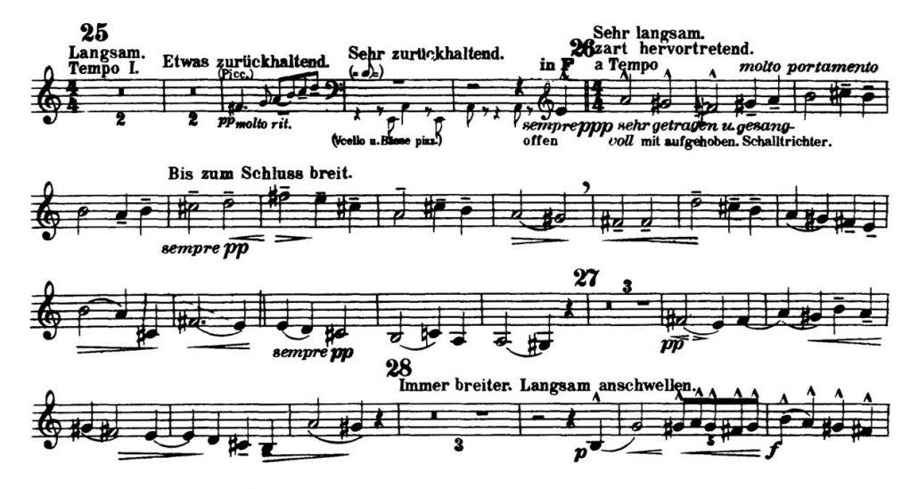 Mahler_Symphony 3_Flugelhorn orchestra audition excerpts_Trumpet 2a