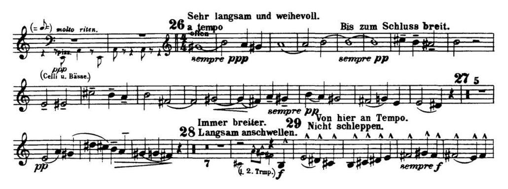 Mahler_Symphony 3_Flugelhorn orchestra audition excerpts_Trumpet 2c