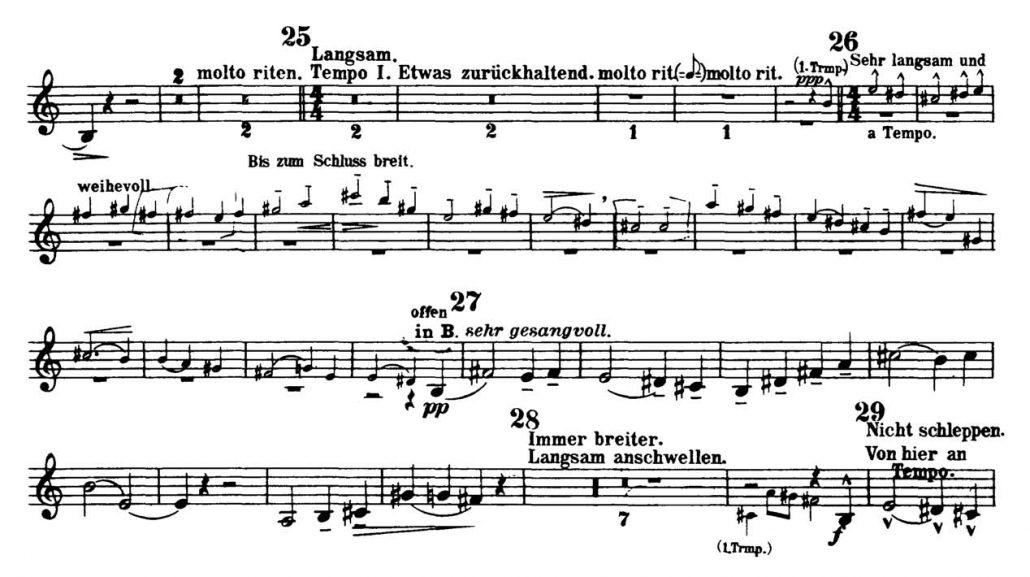 Mahler_Symphony 3_Flugelhorn orchestra audition excerpts_Trumpet 2d