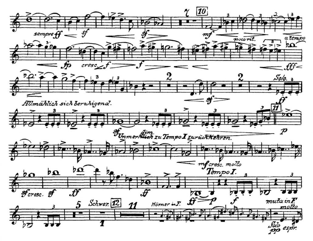 Mahler_Symphony_No_5 Orchestra Audition excerpts_Trumpet 3a