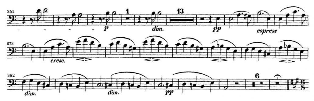 Mendelssohn_Symphony 3 Bassoon orchestra audition excerpt 3