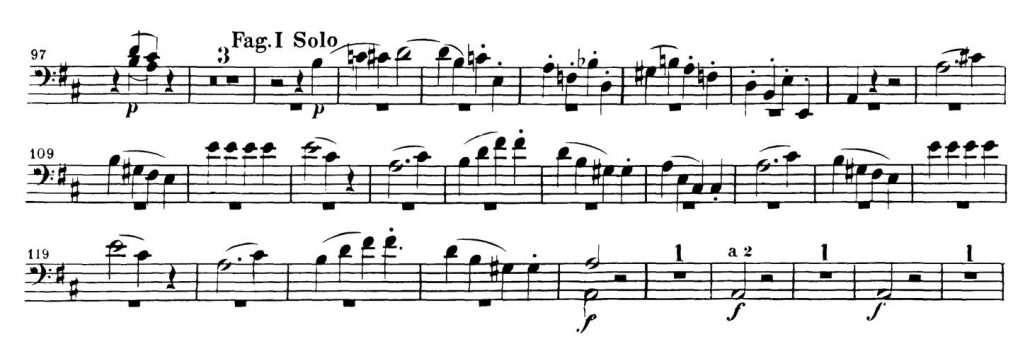 Mozart_Marriage_Figaro_Bassoon orchestra audition excerpt 2
