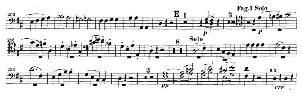 Mozart_Marriage_Figaro_Bassoon orchestra audition excerpt 4