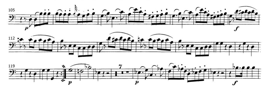 Mozart_Symphony 35 Bassoon orchestra audition excerpt 2