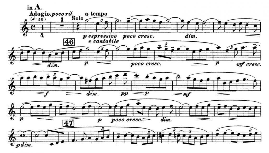 All Music Chords rachmaninoff sheet music : Clarinet: Rachmaninov: Symphony No. 2, Mvt. III (Beg until 2m ...